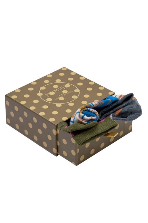 Nümph - Strømper - Massimo 3-Pack Socks - Grey/Blue/Green Multi