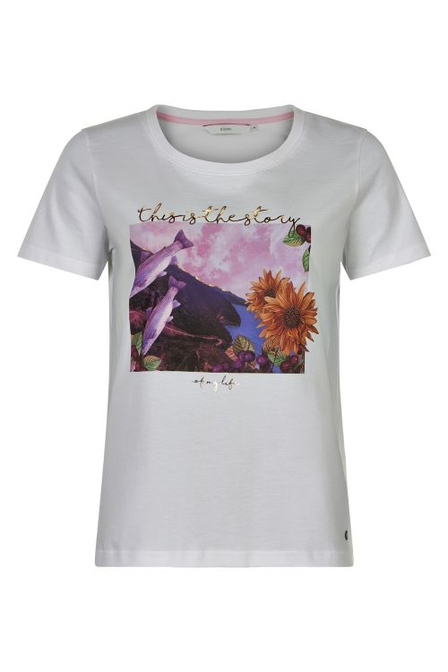 Nümph T-shirt Bryce T-shirt Bright White Front