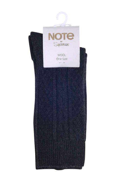 Oroblu Strømper Note Woman Wool Cable Antracit Front