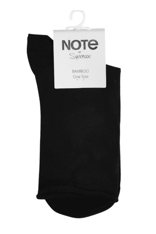Oroblú Strømper Note Woman Bamboo Roll Top Black Front