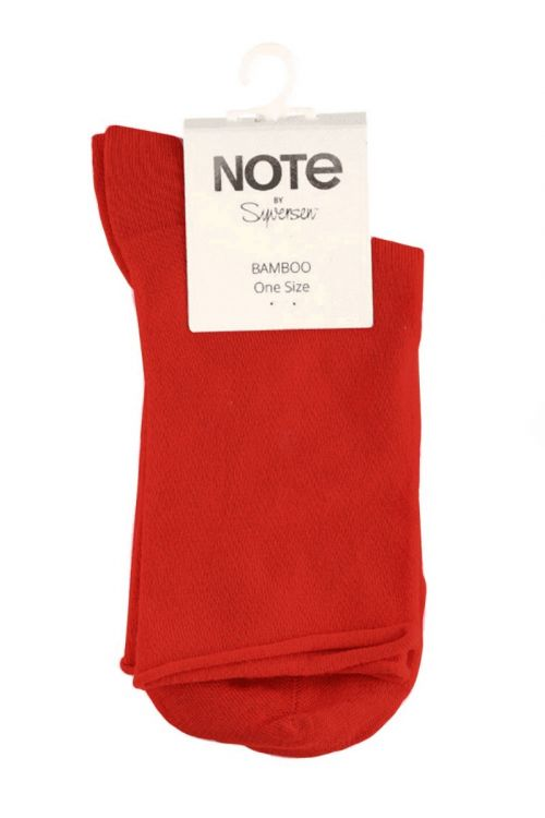 Oroblu Strømper Note Woman Bamboo Roll Top Red Front1