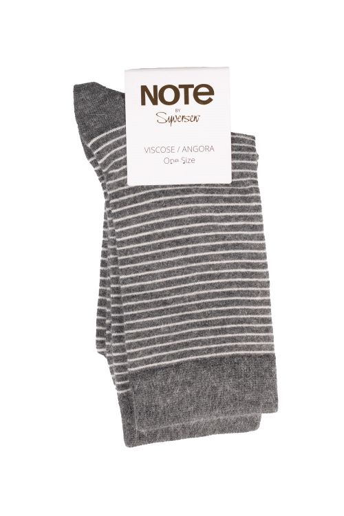 Oroblu Strømper Note Woman Viscose/Angora Stripes Antracite Front