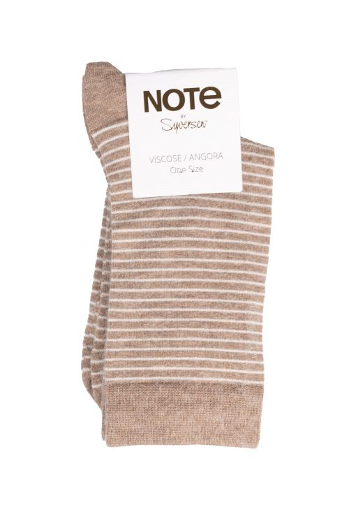 Oroblu Strømper Note Woman Viscose/Angora Stripes Beige Front