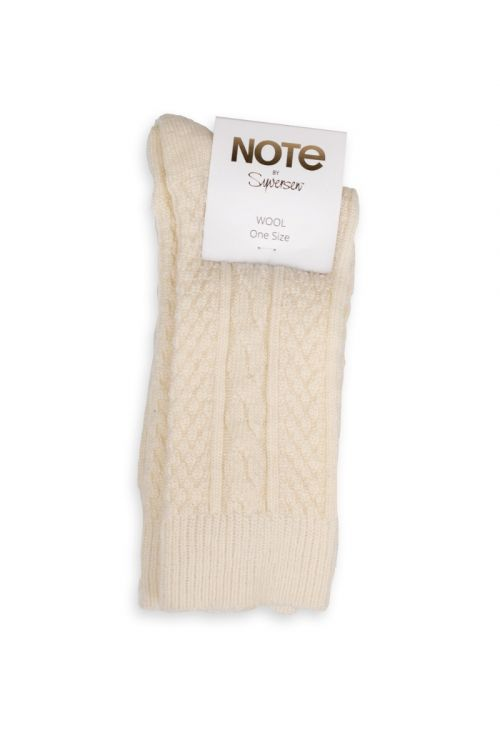 Oroblu Strømper Note Woman Wool Cable Off White Front