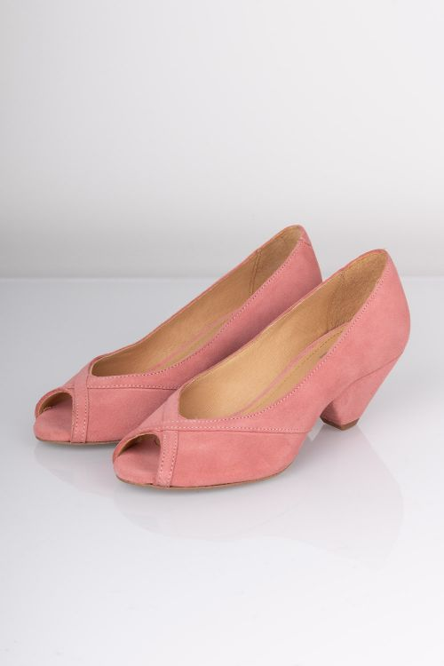 Pavement Sandal Zoey Rose Suede Front