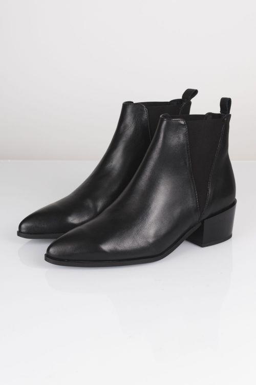 Pavement Sko Karen High Leather Black Front