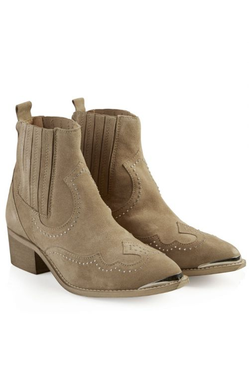 Pavement Sko Ruth Taupe Suede Front