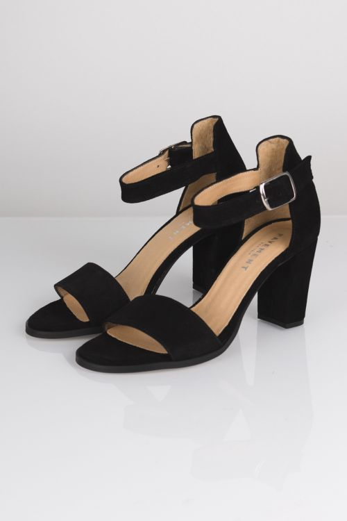 Pavement Sko Silke Black Suede Front