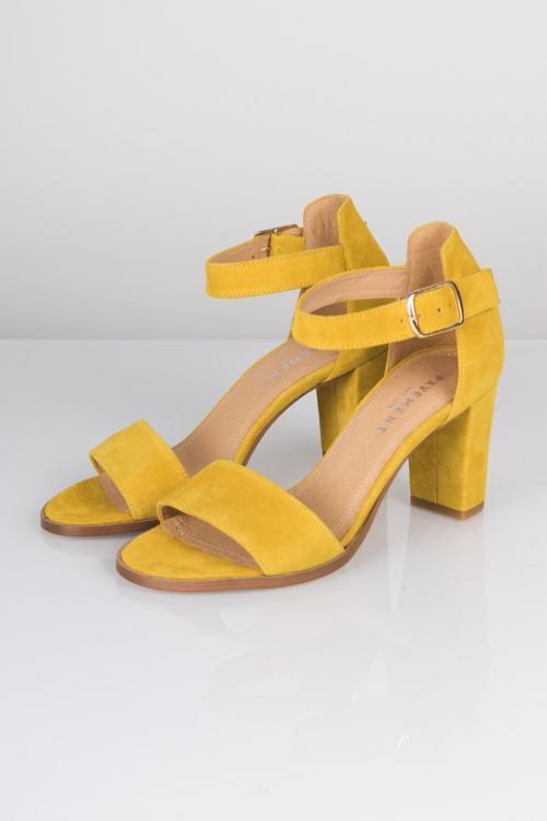 Pavement Sko Silke Yellow Suede Front