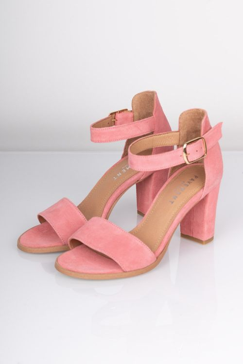 Pavement Stiletter Silke Rose Suede Front