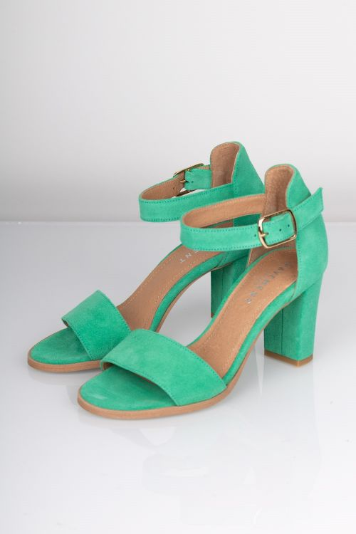 Pavement - Stiletter - Silke - Pastel Green Suede