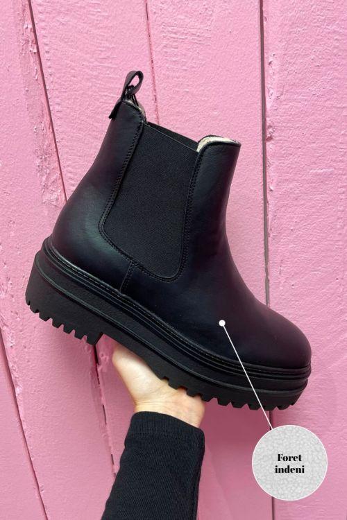 Phenumb - Støvler - Cash W - Black Leather