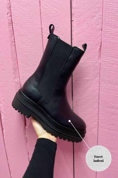 Phenumb Støvler Catalina W Black Leather Front