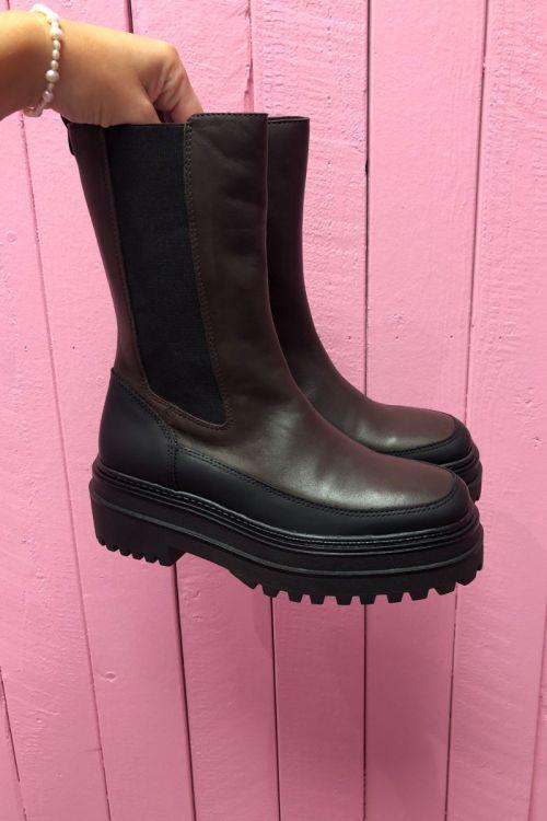 Phenumb - Støvler - Celine - Brown Dark-black/Brown Dark-black
