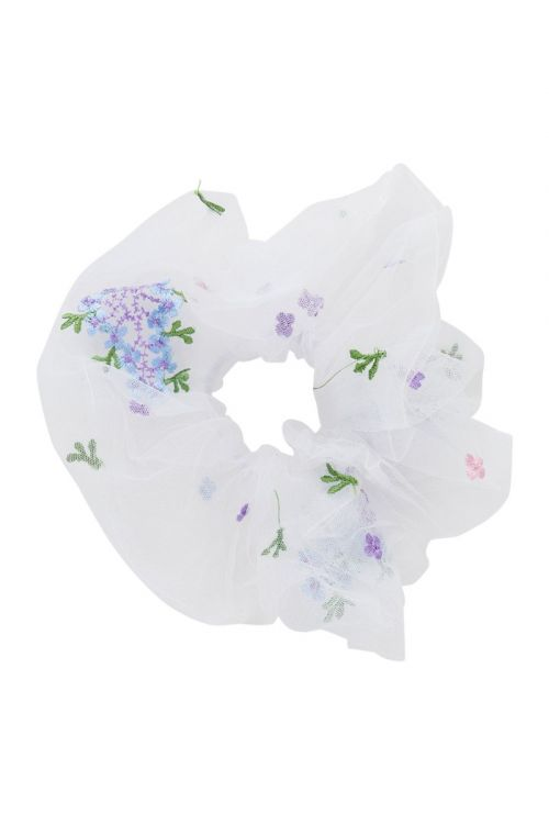 Pieces Accessories PC Julle Oversize Scrunchie Bright White Front