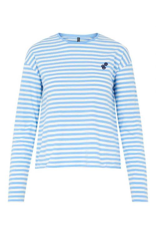 Pieces Bluse PC Gwendolyn LS Top Little Boy Blue Front