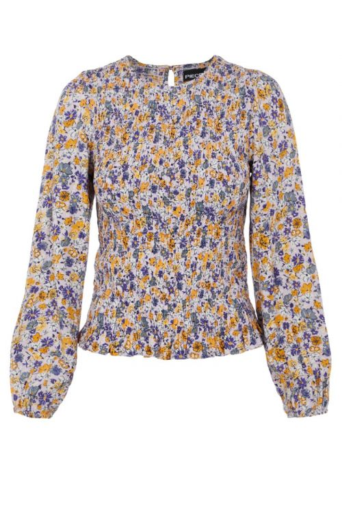 Pieces Bluse PC Hulu LS Smock Top Orchid Bloom Front