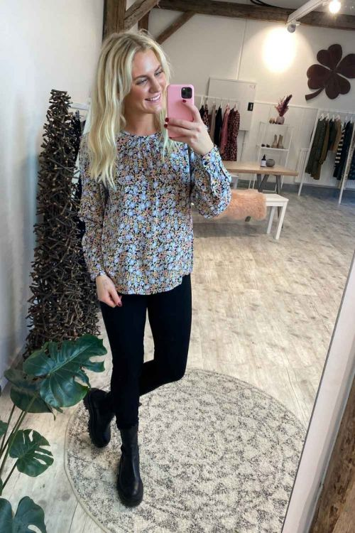 Pieces - Bluse - Inis LS Top - Black