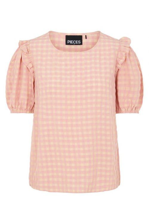 Pieces Bluse Vilja SS Top Candy Pink Front