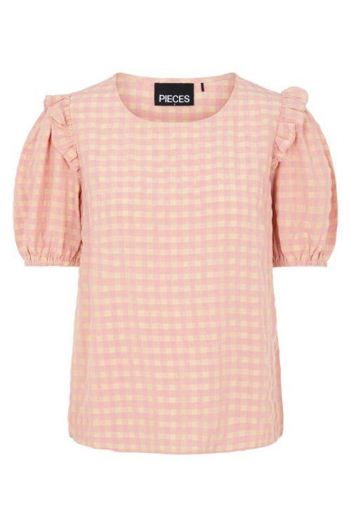 Pieces - Bluse - Vilja SS Top - Candy Pink