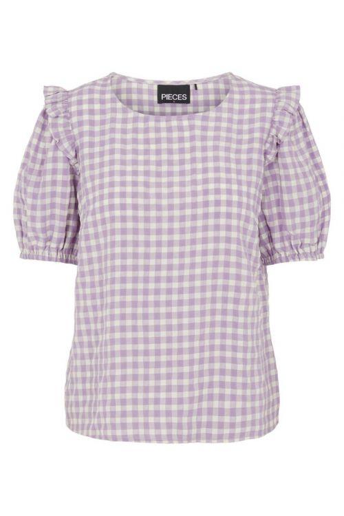 Pieces - Bluse - Vilja SS Top - Dahlia Purple