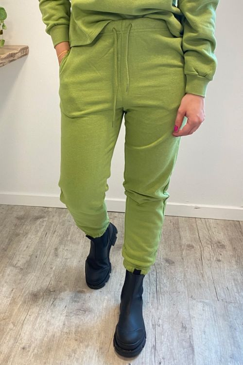 Pieces - Bukser - PC Chilli HW Sweat Pants - Turtle Green