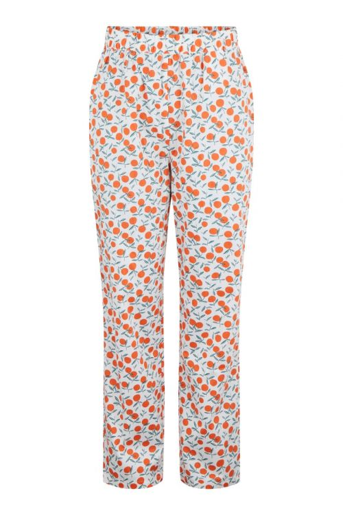 Pieces - Bukser - PC Fruit HW Pants - Bright White