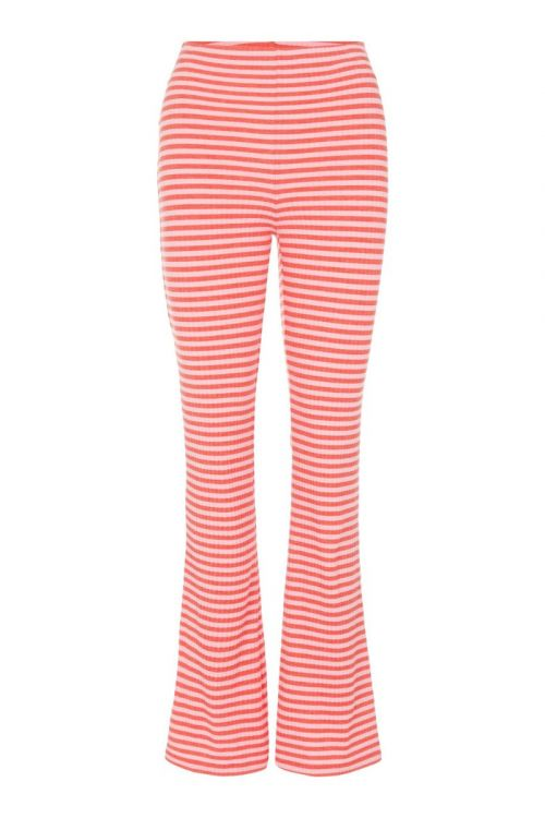 Pieces - Bukser - PC Laya HW Flared Pants - Cotton Candy