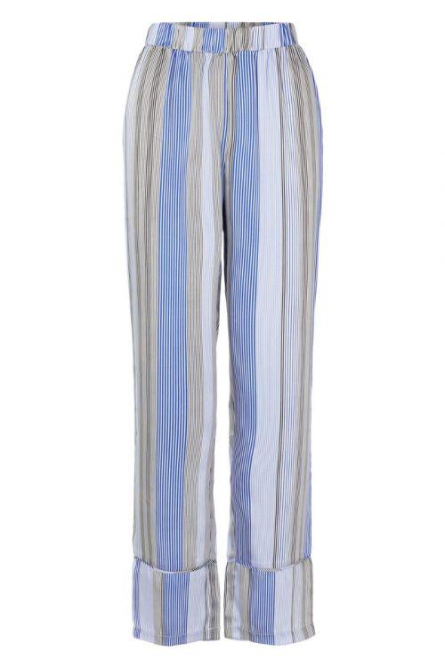 Pieces - Bukser - PC Sienna HW Wide Pants - Deep Ultramarine