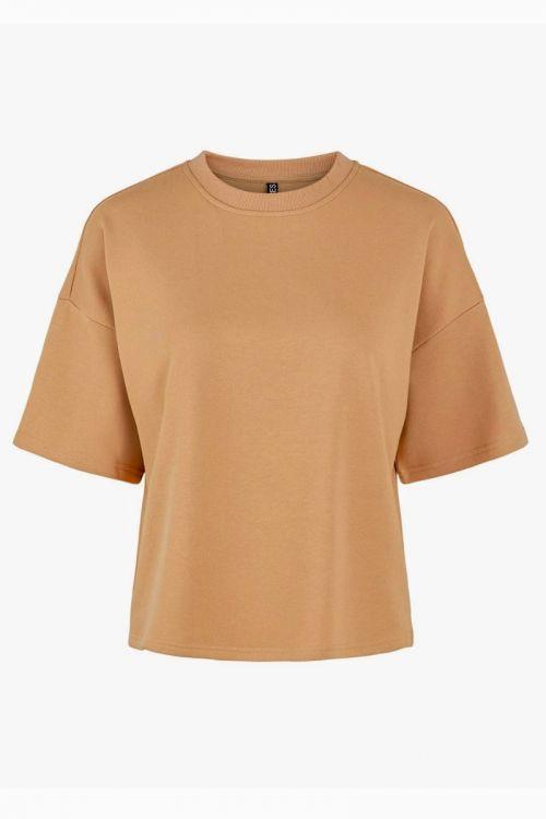 Pieces - T-shirt - PC Chilli Summer 2/4 Loose Sweat - Cuban Sand