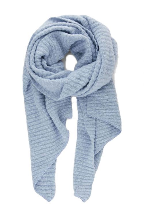 Pieces - Halstørklæde - PC Pyron Structured Long Scarf - Kentucky Blue