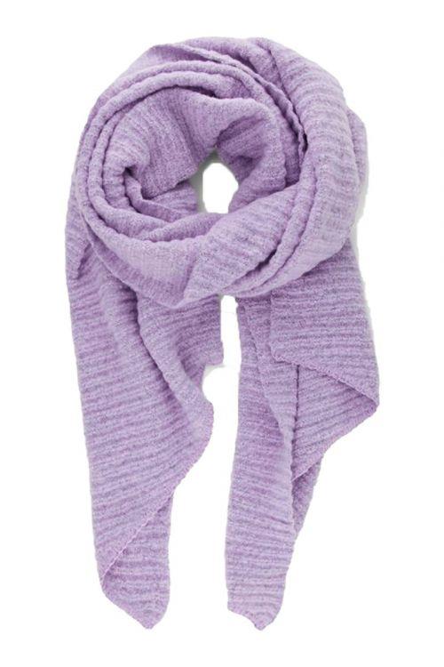 Pieces - Halstørklæde - PC Pyron Structured Long Scarf - Lavender