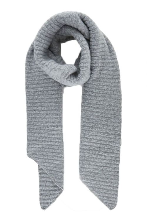 Pieces - Halstørklæde - PC Pyron Structured Long Scarf - Light Grey Melange