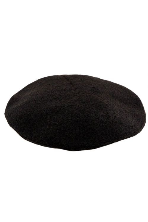 Pieces - Hat - PC French Wool Beret - Black