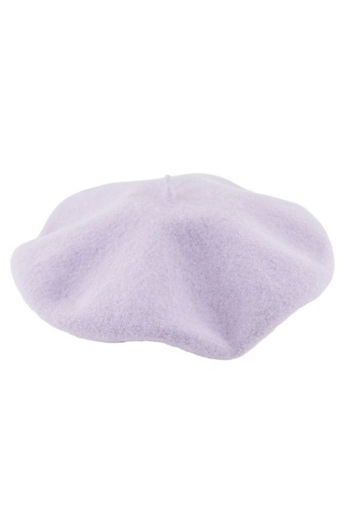 Pieces - Hat - PC French Wool Beret - Lavender