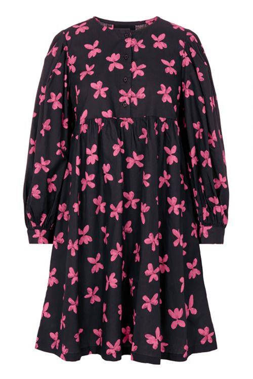Pieces - Kjole - Alona Dress - Black w/ Pink (Levering i november)