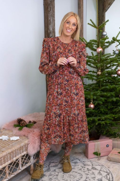 Pieces Kjole Bente Midi Dress Falcon