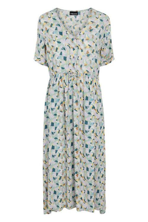 Pieces - Kjole - PC Betty SS Midi Dress - Desert Sage