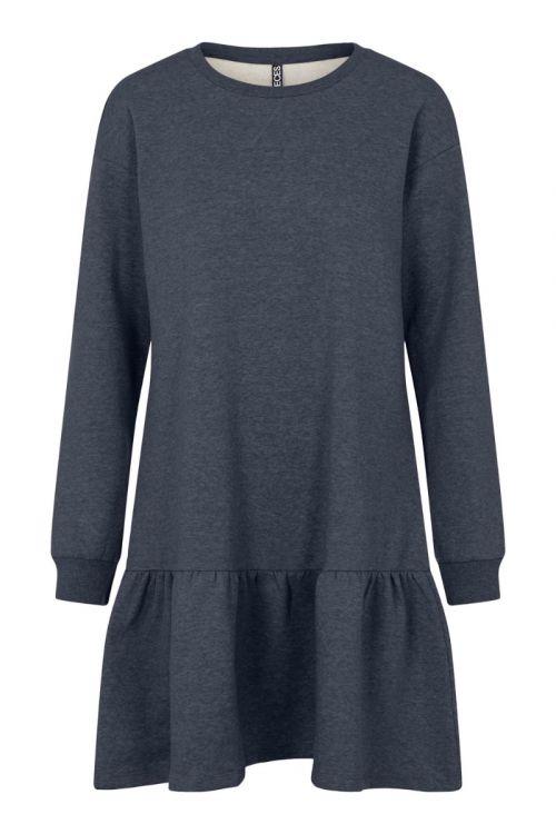 Pieces - Kjole - PC Chilli LS Flounce Dress - Ombre Blue