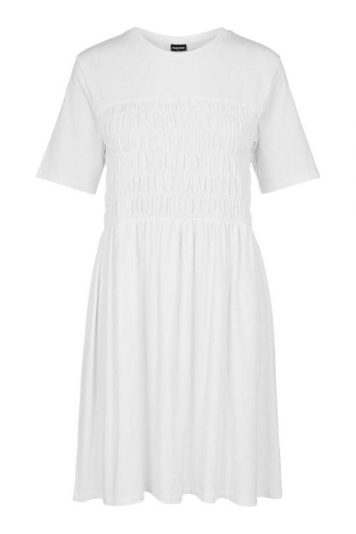 Pieces - Kjole - PC Chrissy SS Dress - Bright White