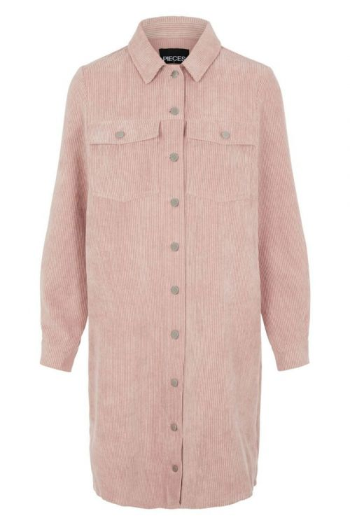 Pieces - Kjole - Effi LS Shirt Dress - Misty Rose