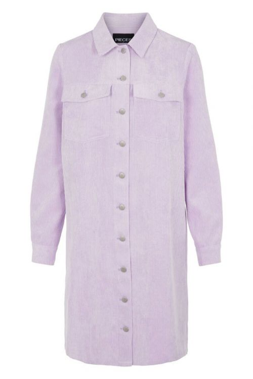 Pieces - Kjole - Effi LS Shirt Dress - Orchid Bloom