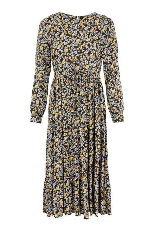 Pieces  Kjole  Ellia LS Midi Dress  Rosin Front