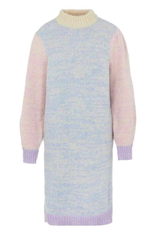 Pieces Kjole PC Felisia LS High Neck Wool Knit Dress Pale Iris Front