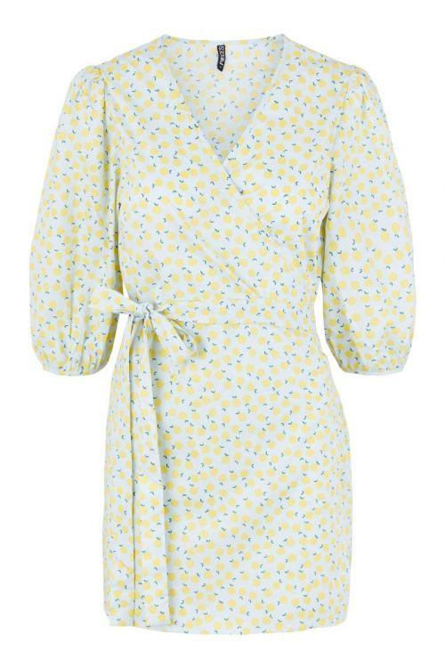 Pieces Kjole PC Fruit 2/4 Wrap Dress Kentucky Blue Front