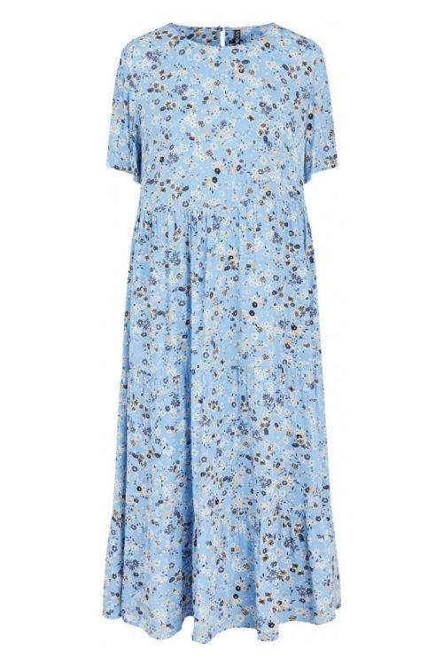 Pieces - Kjole - PC Gertrude 2/4 Midi Dress - Little Boy Blue