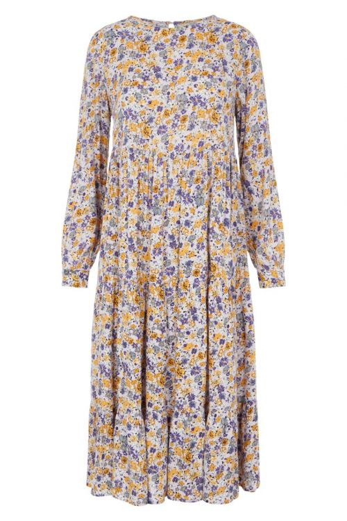 Pieces Kjole PC Hullu LS Midi Dress Orchid Bloom Front
