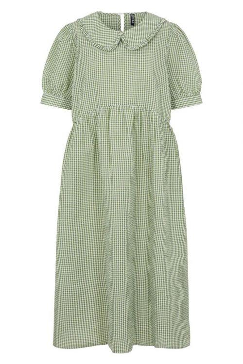 Pieces - Kjole - Ida SS Midi Dress - Bright White/Turtle