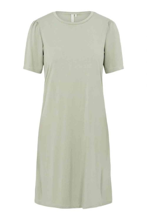 Pieces - Kjole - PC Kamala Puff Sleeve Dress - Desert Sage