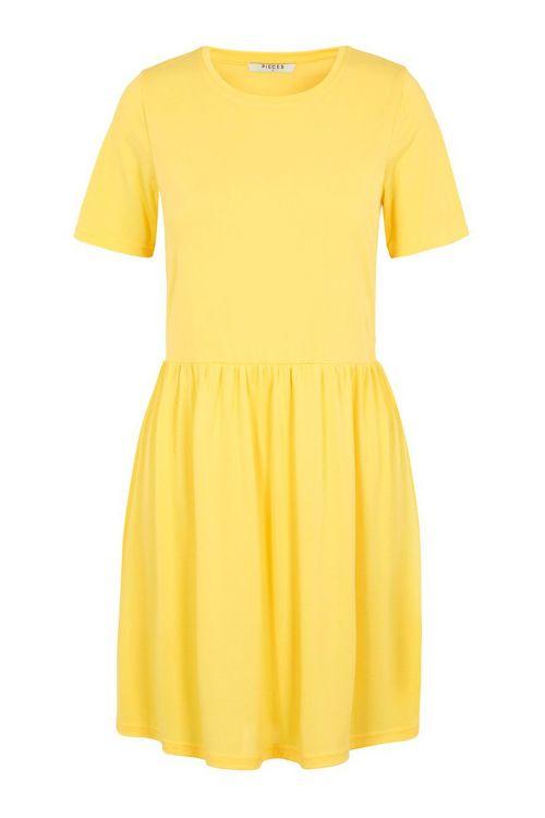Pieces Kjole Kamala SS Dress Lemon Drop Front